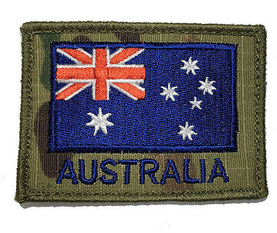 Australian National Flag ANF Patch- Coloured Flag on Mulitcam
