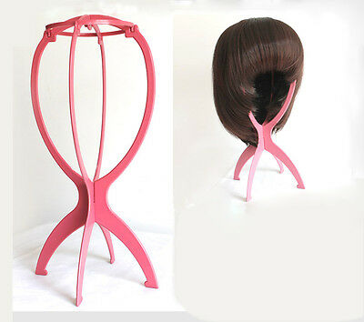 Wig Hair Stand Folding Durable Stable Display Tool Mannequin Head Hat Cap Holder