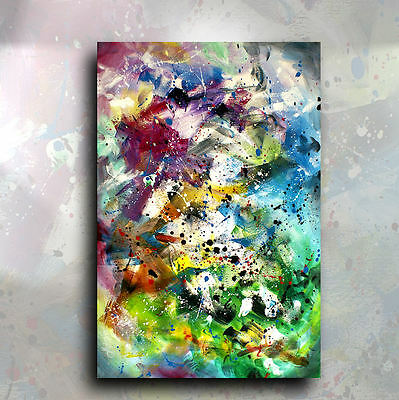 Abstract Painting 'All at Once'Original Mix Lang Art Deco Signed Original U.S.A.