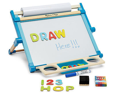 Melissa & Doug Deluxe Double-Sided Magnetic Tabletop Easel