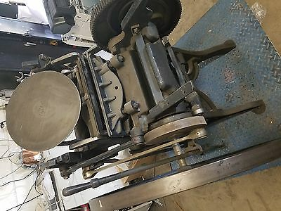 * Challenge Machinery Co Vintage 1900's Printing Press