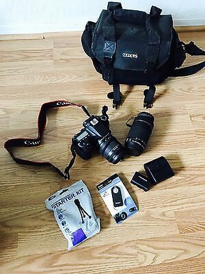 Canon EOS 70D 20.2MP Digital SLR Camera - Black Kit 2 lenses