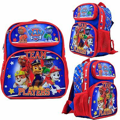 "Nickelodeon Paw Patrol Kids 12"" Toddler School Backpack Canvas Book Bag New USA"