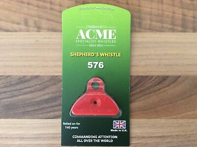 Acme Shepherds Plastic Lip Whistle IN ORANGE. Sheep Dog Training Herding