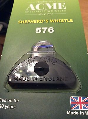 Genuine Acme Shepherds Plastic Lip Whistle in BLACK.Sheep Dog Training Shephards