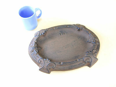 Very LARGE Cast Iron Cigar Ashtray Cigarette Butts ashes table 13x9 Heavy