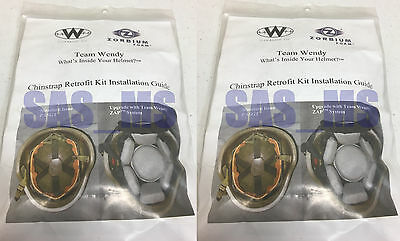Lot Of 2 Team Wendy 4 Point Chinstrap  Retrofit Kit Assembly With Hardware New