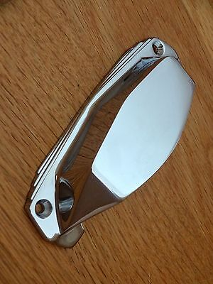 Chrome Art Deco Door Or Drawer Pull Cup Handles Cupboard Furniture Knobs