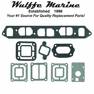 Exhaust Manifold Gasket Set for OMC 2.5L 120 HP 3.0L 140 HP 1985-1988 18-4369
