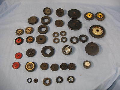 39 Vintage Rubber & Metal Tires For Toy Cars Trucks