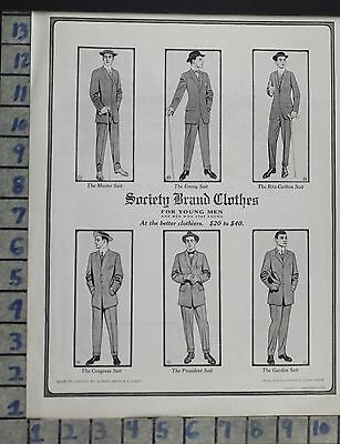 1911 Fashion Men Clothes Society Brand Alfred Decker Suit Vintage Ad Cx91