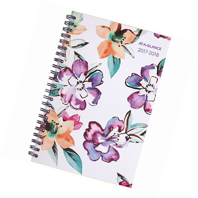 """AT-A-GLANCE Academic Weekly / Monthly Planner, July 2017 - June 2018, 4-7/8"""" x 8"""