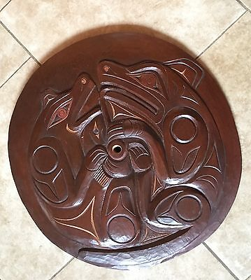 Rare Pacific NW Coast Salish Carved Spindle Whorl by Tyee Chief Floyd Joseph
