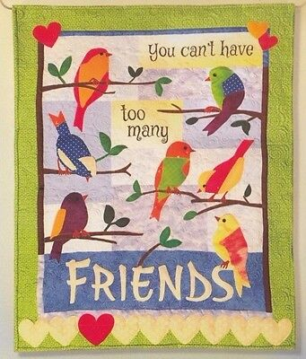 SALE - Friends - pieced & applique wall quilt PATTERN - Quilted Works Designs
