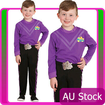 Licensed Lachy Purple The Wiggle Child Boys Kids Book Week Wiggles Dress Costume