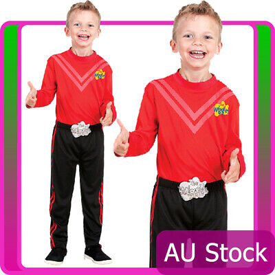 WIGGLES COSTUME Red SIMON Wiggle Deluxe Boys 3-5 Toddler 18-36