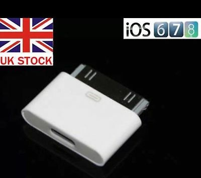 Lightning 8 Pin Female to 30 pin Male Adapter for iPhone 4S iPad 3 iPod Touch 4
