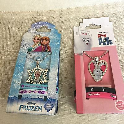 Kid's Necklace with Pendant and Bracelets Set Frozen Life of Pets