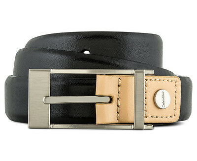 Calvin Klein Women's Basic Career Leather Belt - Black