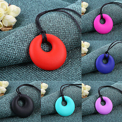 Silicone Baby Teething Teethers Pendant Necklace Nursing Chew Toy Gift