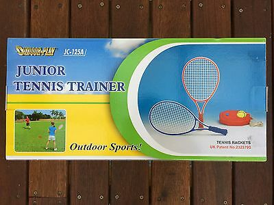 OUTDOOR-PLAY Junior Tennis Trainer Kids Trainning Racquets & Ball & String &Base