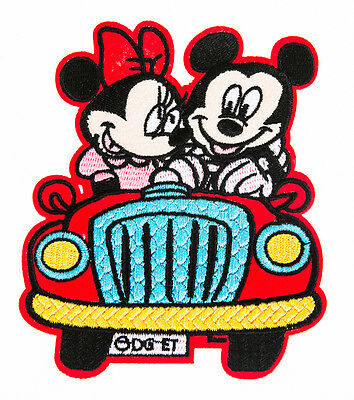 MICKY & MINNY MOUSE BIG Craft Embroidered Patch Sew Iron-On Patch D.I.Y. New