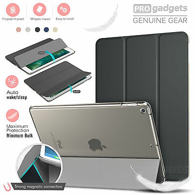 iPad 9.7 2018 /2017 Case, Genuine MoKo Ultra Slim Frosted Back Stand Cover Apple