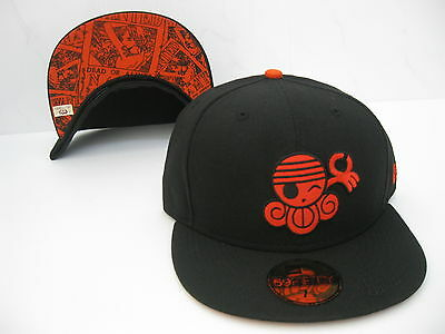 a21ce40a37d NEW ERA 59FIFTY ONE PIECE NAMI 59FIFTY FITTED CAP black orange ...
