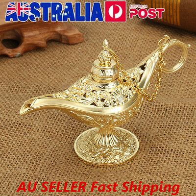 Collectable Classic Carved Rare Legend Aladdin Magic Genie Light Lamp Wish Lamp