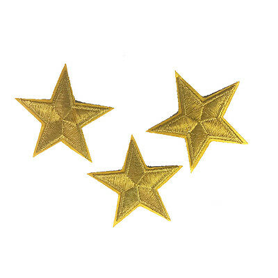 GOLD STARS Craft Embroidered Patch Sew Iron-On Patch Ready Made New