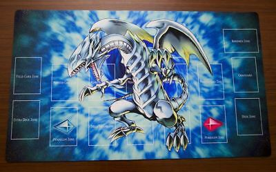 F1884 Free Mat Bag Yugioh Trading Card Game Playmat Blue Eyes White Dragon