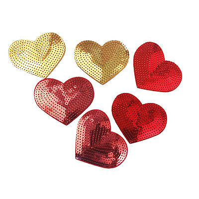 MIX COLOR HEART Craft Embroidered Patch Sew Iron-On Patch D.I.Y. New
