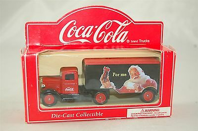 Coca Cola Coke Lledo Red Delivery Truck Holiday Santa Die Cast