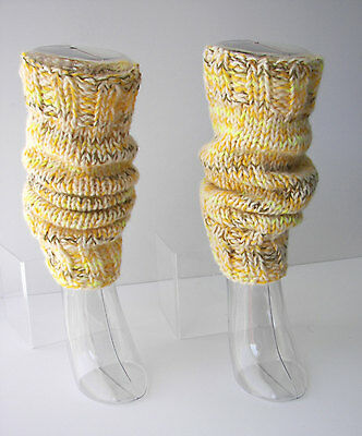 Hand Knit Extra Thick SEAMLESS Leg warmers in wool / Chunky Leg warmers / USA