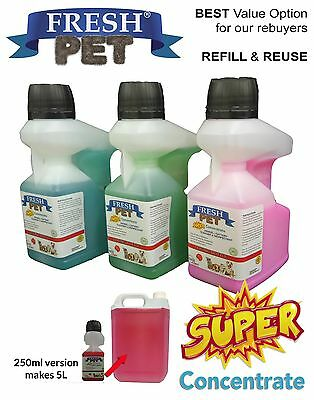 Fresh Pet SUPER CONCENTRATE 250ml Doser Kennel/Cattery Disinfectant / Deodoriser