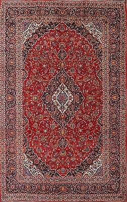 Palace Sized Floral Red 10x15 Kashan Persian Oriental Area Rug Wool 14' 6 x 9' 6