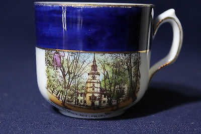 Early 1900's Souvenir Cup Liberty Bell Old State House Philadelphia Pennsylvania