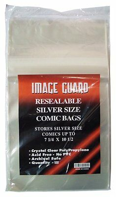 SILVER AGE RESEABLE COMIC BAG x 100 pack