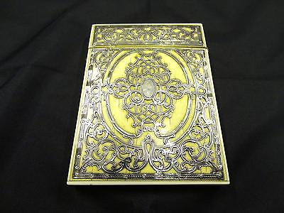 Antique Silver Card Case, Engraved Openwork Silver, Circa 2nd Half 19th Century