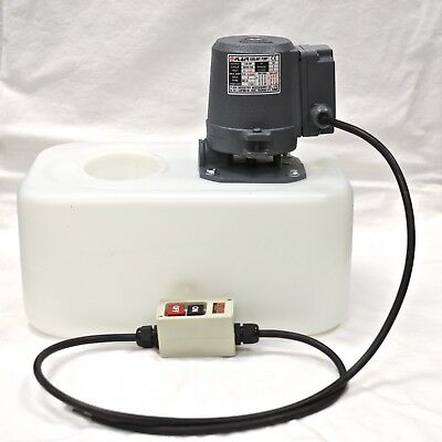 1/8 HP 3-Phase Coolant Pump with Tank and Nozzle Assembly, 220V, MC-8P-13L-W