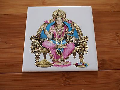 Vintage Old Collectible Rare Hindu God Figure Ceramic 4x4 Wall Tile #4 Orient
