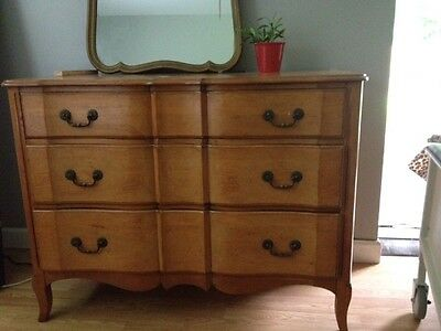 1950's Antique Solid  French Provincial dresser / mirror incl.