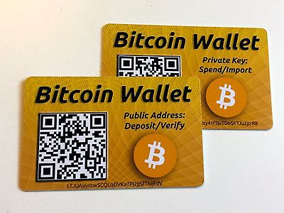 BITCOIN Wallet Safe Offline Storage or GIFT Card - Safely store bitcoins on card