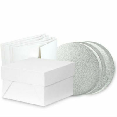 CAKE BOARD AND BOX COMBO - ROUND/SQUARE - Sizes 5 inch - 20 inch - FREEPOST