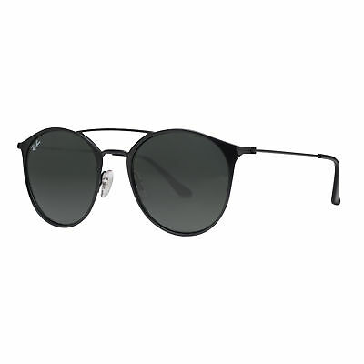Ray Ban RB3546 186 52mm Black Classic Green G-15 Round Steel Sunglasses