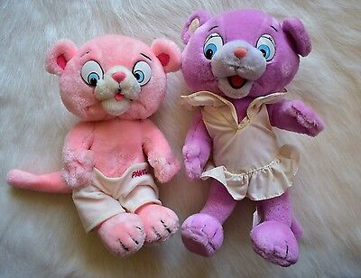 Vintage Pink Panther & Sons Panky And Chatta Plush Rare 1984 Hanna Barbera