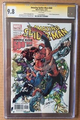 Amazing Spider-Man #500 Graded 9.8 Signed by Stan Lee and J Scott Campbell