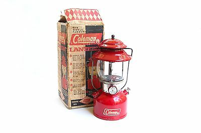 Vintage Coleman 1965 200A Red Gas Lantern w/ Box : Excellent Glossy Condition