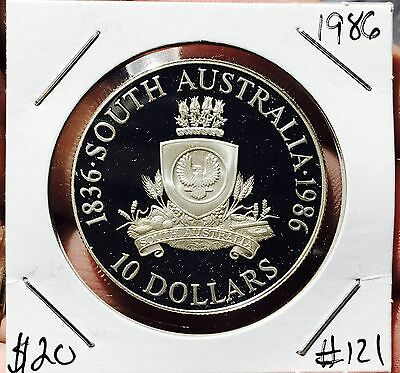 1986 South Australia Silver Proof Collector Coin. Beautiful Coin For Collection