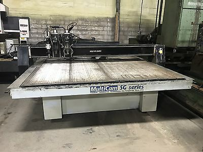 8' X 12' Multicam Sg Series Cnc Router Multi Head Some Tooling